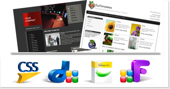 Dreamweaver Templates Responsive Designs And Frontpage Expression - Website front page template