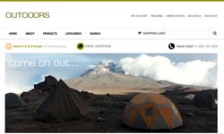 CSS Virtual Outdoors Online Store
